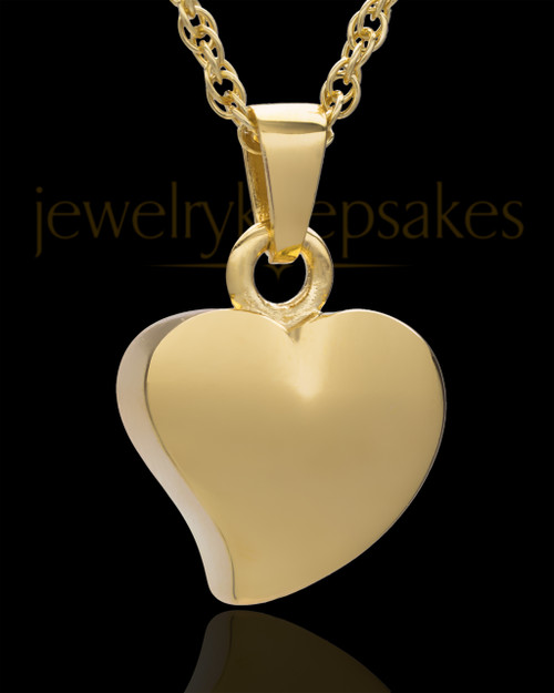 Jewelry Urn 14k Gold Mighty Heart Keepsake