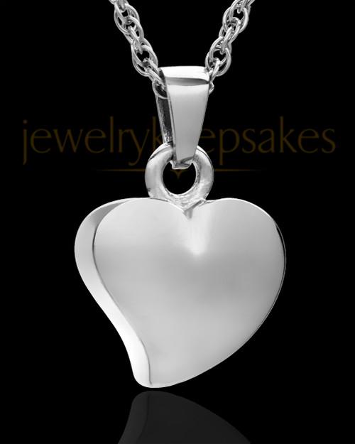 Jewelry Urn Sterling Silver Mighty Heart Keepsake