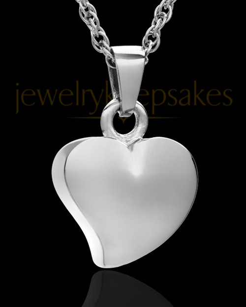 Jewelry Urn Sterling Silver Mighty Heart Keepsake