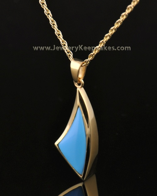 14k Gold Turquoise Sail Away Keepsake