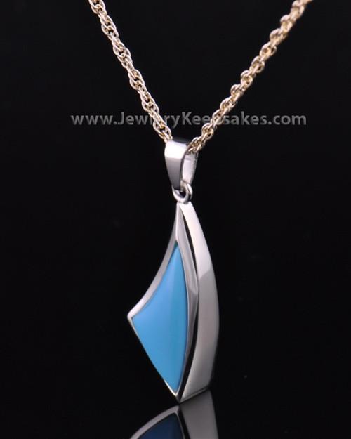 Sterling Silver Turquoise Sail Away Keepsake