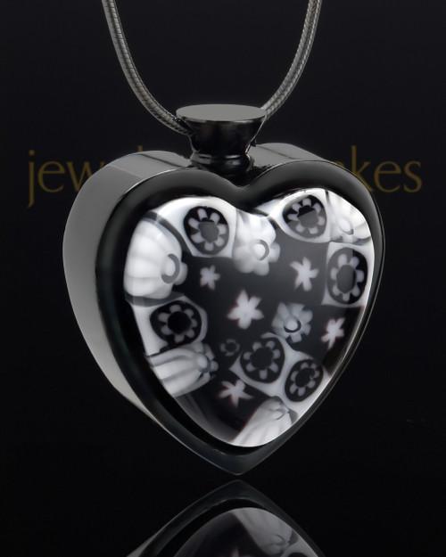 Black Plated Stainless Heavens Destiny Heart Keepsake Jewelry