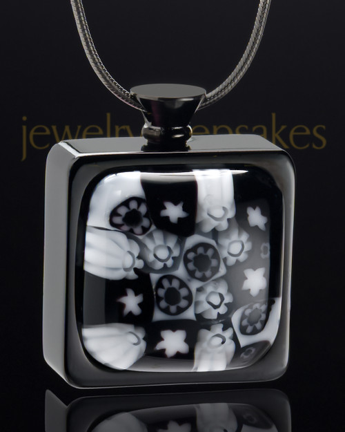 Black Plated Stainless Ebony Magic Keepsake Pendant