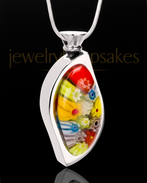 Stainless Steel Visions of Spring Keepsake Pendant