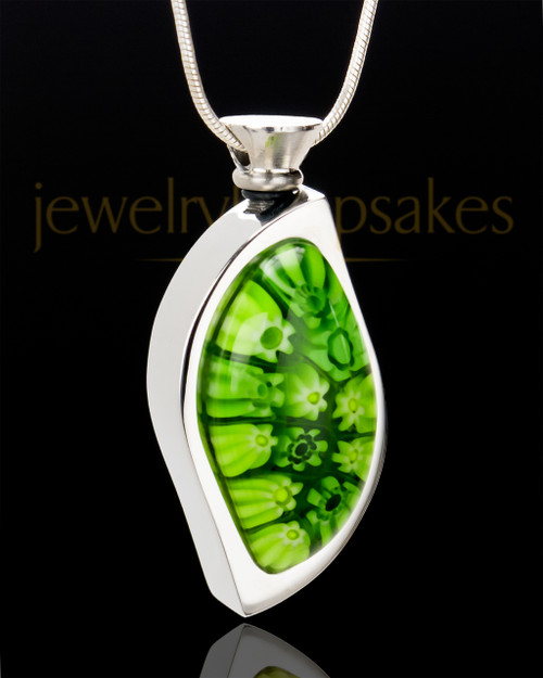 Stainless Steel Evergreen Enchantment Keepsake Pendant