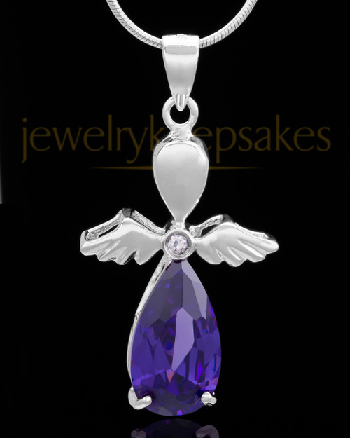 Silver Plated Angelic Symphony Cremation Urn Pendant