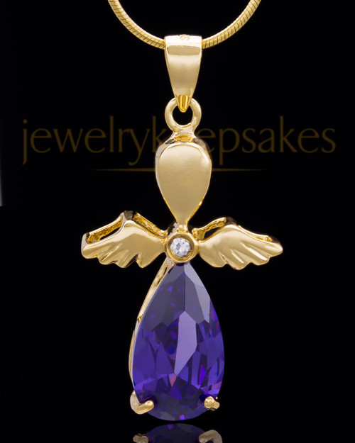 Gold Plated Angelic Symphony Cremation Urn Pendant