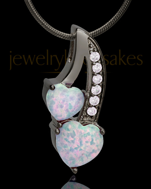 Black Plated with Pink Treasures of the Heart Keepsake Jewelry