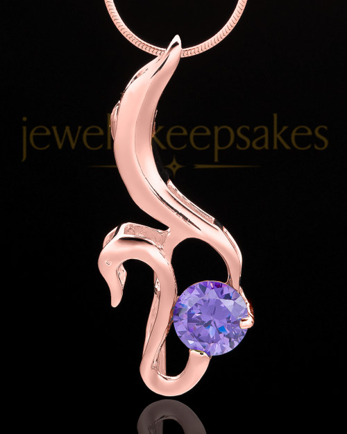 Rose Gold Plated Awakening Cremation Urn Pendant