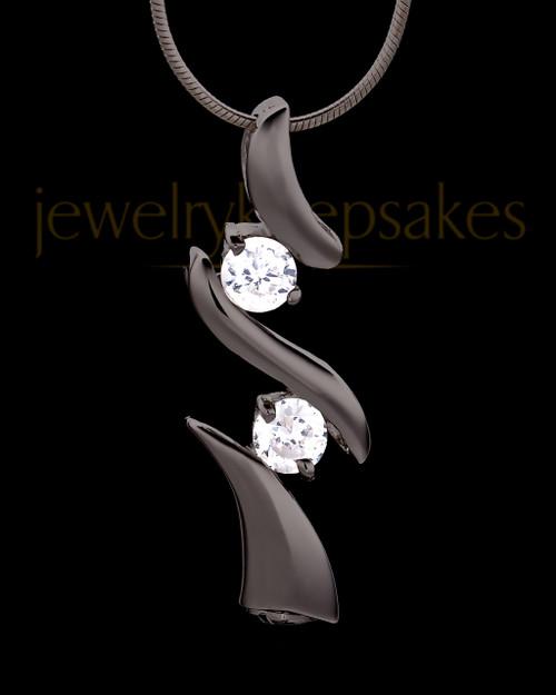 Black Plated Endless Love Keepsake Jewelry
