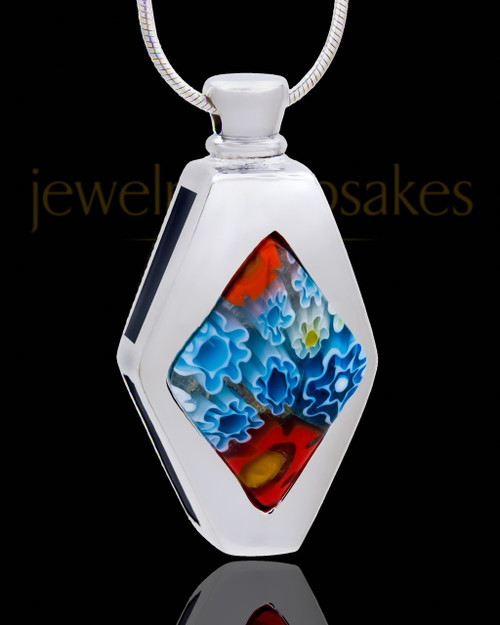 Silver Plated Abundant Cremation Urn Pendant