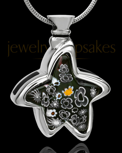 Silver Plated Boundless Star Cremation Urn Pendant