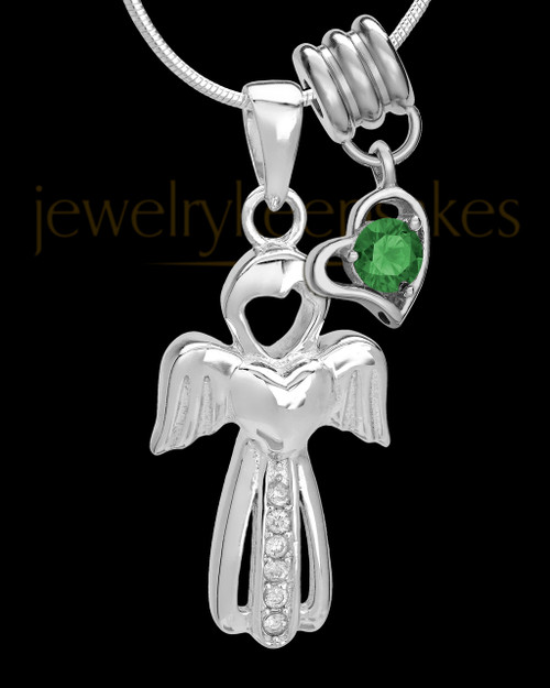 Sterling Silver May Heavenly Attendant Cremation Urn Pendant
