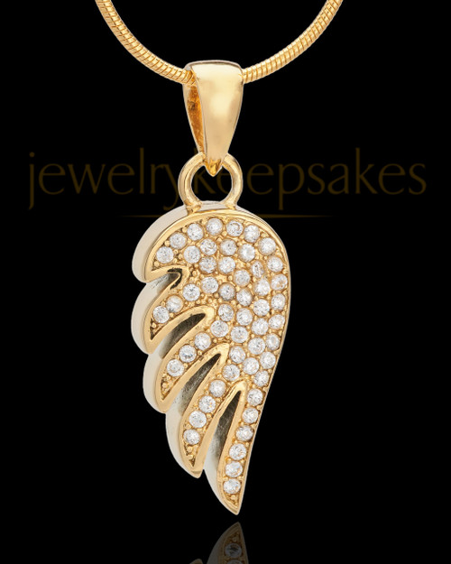 Gold Plated Soaring Spirit Cremation Urn Pendant