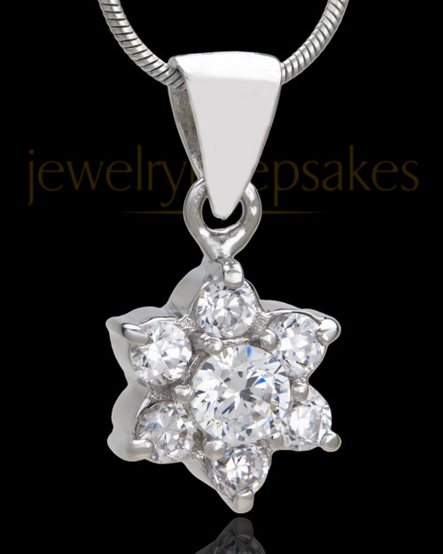 Sterling Silver Burst of Light Cremation Urn Pendant