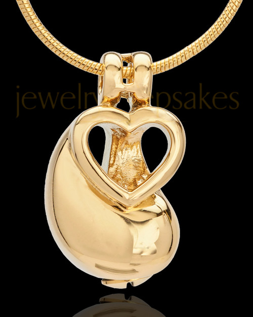 Memorial Locket Together as One Gold