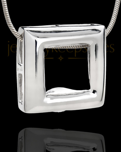 Silver Plated Bethany Cremation Urn Pendant