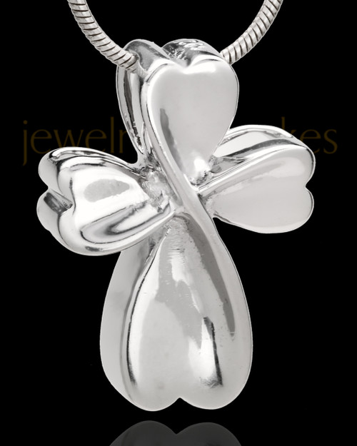 Sterling Silver Timeless Cross Cremation Urn Pendant