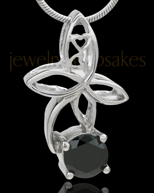 Silver Plated Ambrosia Cremation Urn Pendant