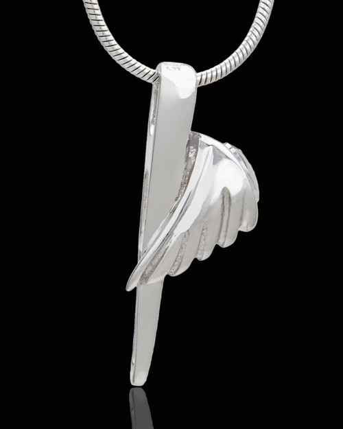 Sterling Silver Grace Cremation Urn Pendant