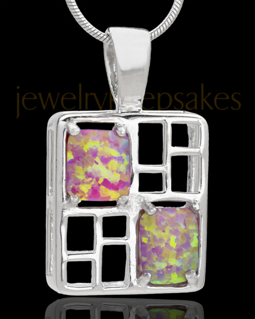 Silver Plated Confident Cremation Urn Pendant