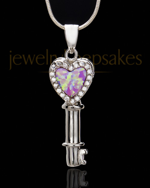 Sterling Silver Safekeeping Heart Cremation Urn Pendant