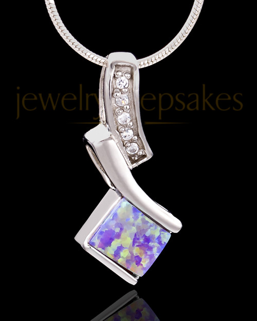 Silver Plated Legacy Cremation Urn Pendant