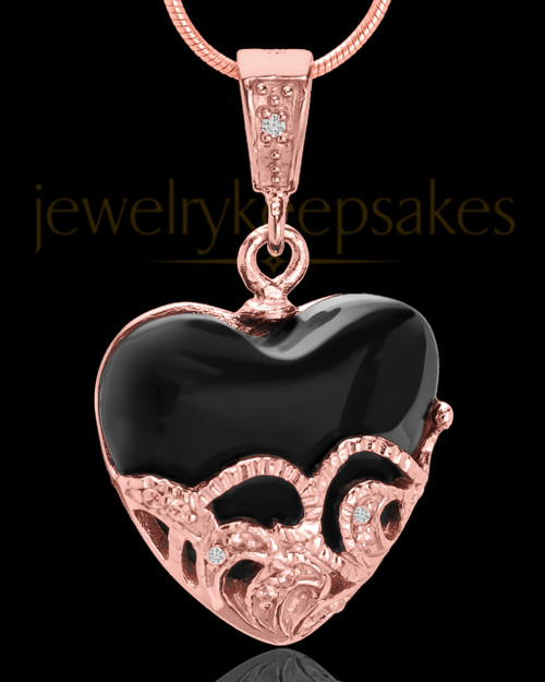Rose Gold Plated Bundled Heart Keepsake Jewelry