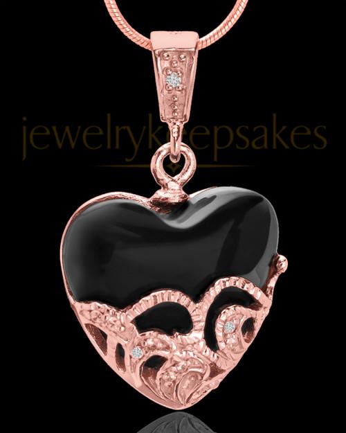 Rose Gold Plated Bundled Heart Keepsake Jewelry
