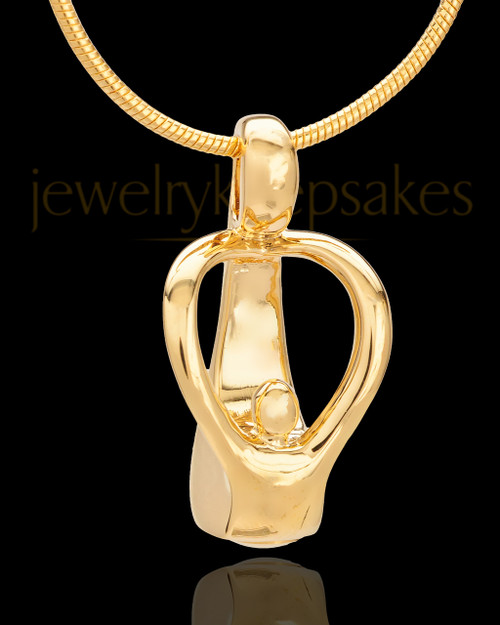 Gold Plated Parental Love Cremation Urn Pendant