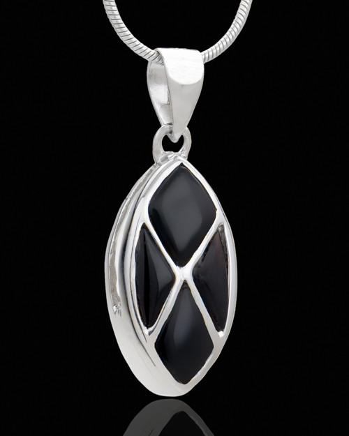 Silver Plated Optimistic Cremation Urn Pendant