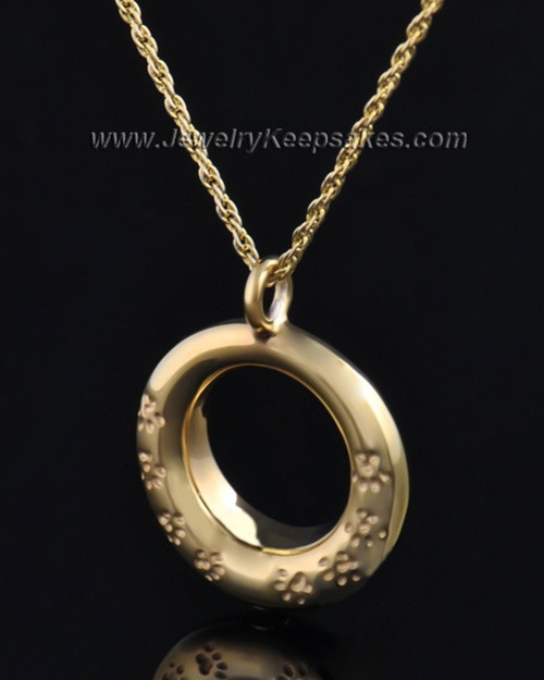 Gold Plated Playful Round Pendant