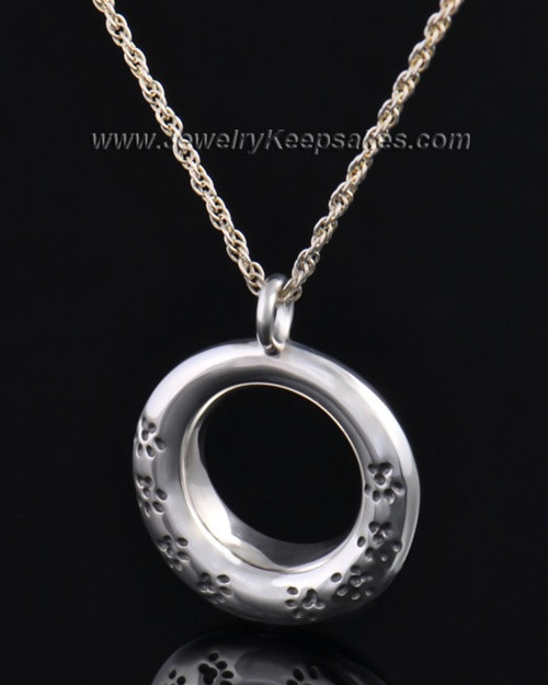 Sterling Silver Playful Round Pendant