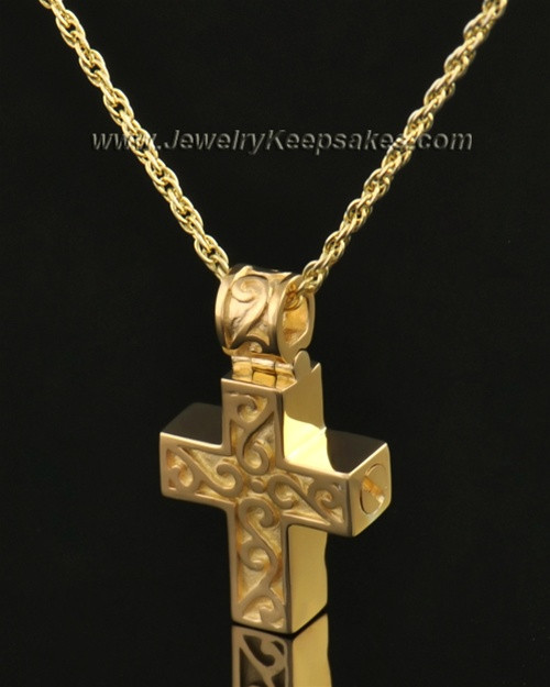 14k Gold Unity Cross Pendant