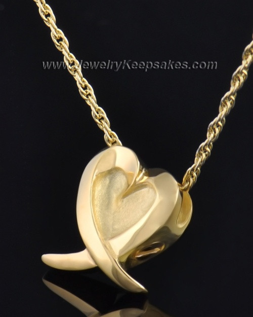 Gold Plated Wrap Around Heart Pendant