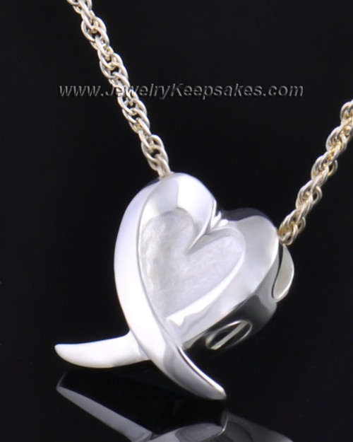 Sterling Silver Wrap Around Heart Pendant