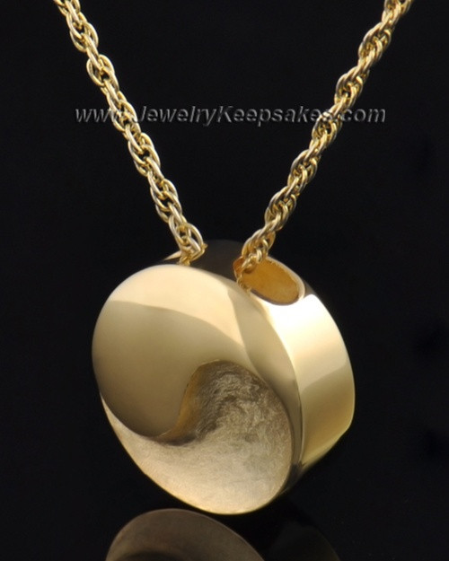 Gold Plated Paired Round Pendant