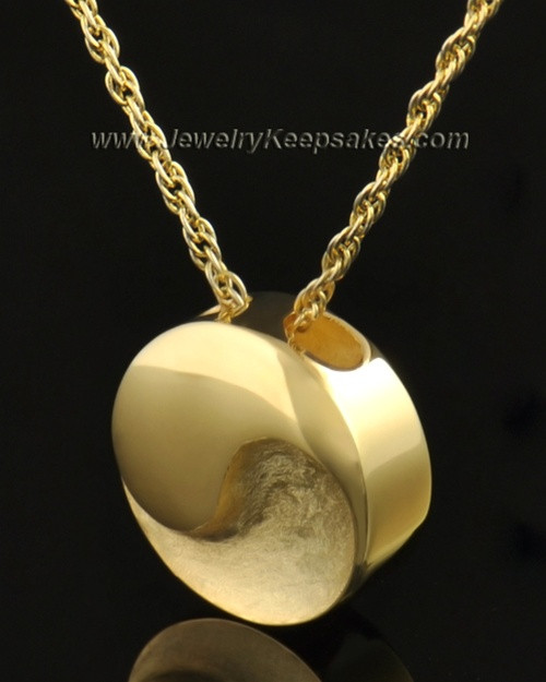 14k Gold Paired Round Pendant