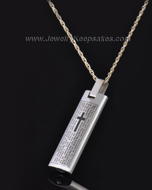 Stainless Steel The Lord's Prayer Cylinder