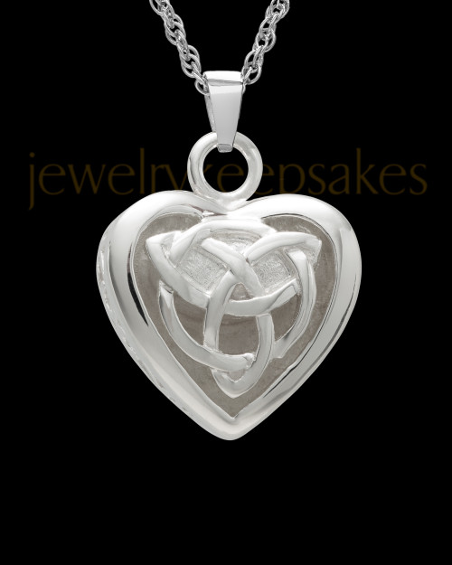 Sterling Silver Warm and Tender Heart Cremation Pendant