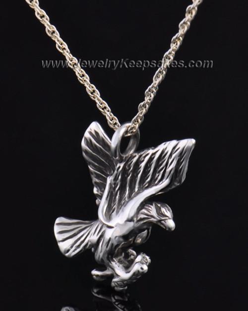 Sterling Silver Soaring Eagle Urn Pendant