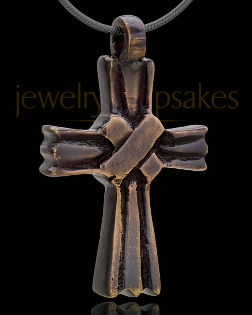 Brass Hallmark Cross Cremation Pendant