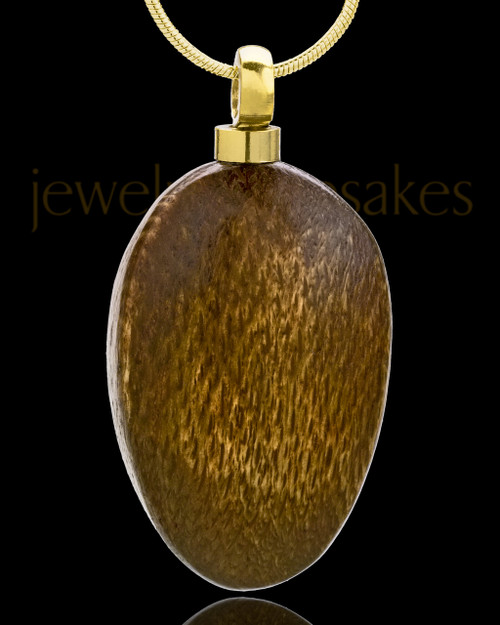 Large Woodland Teardrop Cremation Pendant