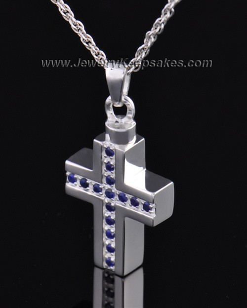 Sterling Silver Royal Cross Cremation Necklace