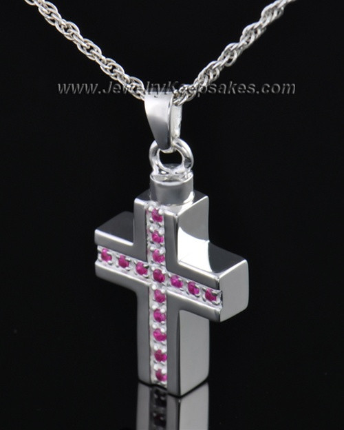 Sterling Silver Tender Cross Cremation Necklace