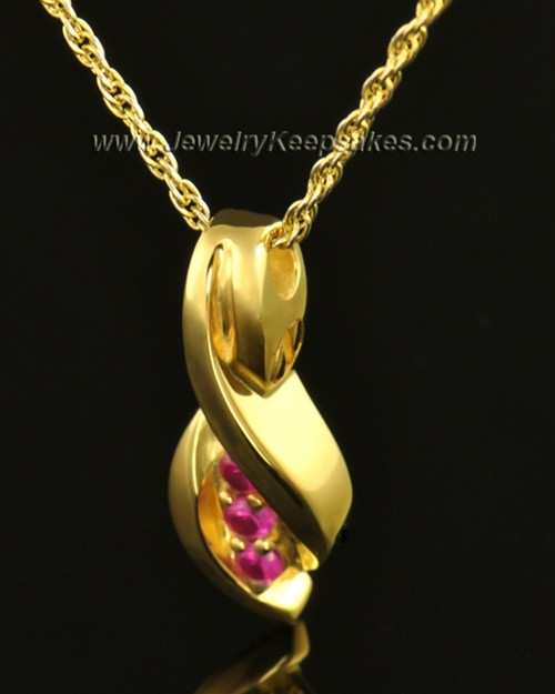 14k Gold Soft Spoken Cremation Necklace