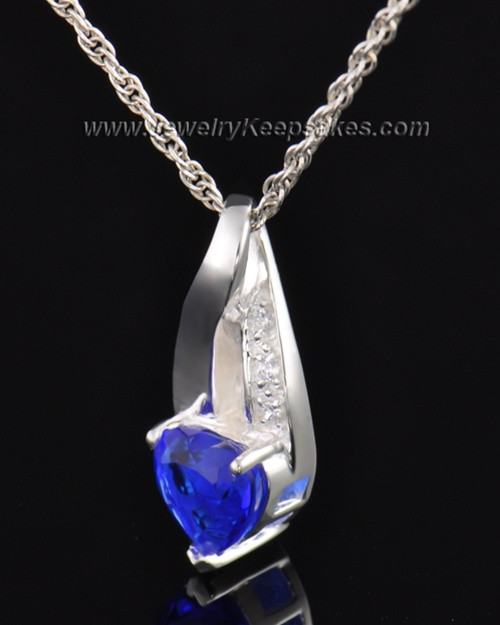 Sterling Silver Midnight Blue Cremation Necklace