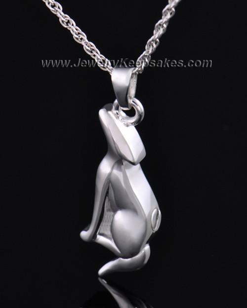 Sterling Silver Delightful Dog Cremation Necklace