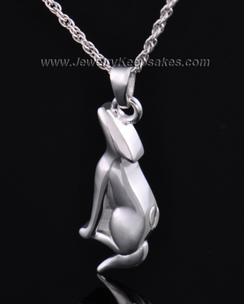 Sterling Silver Delightful Dog Cremation Necklace