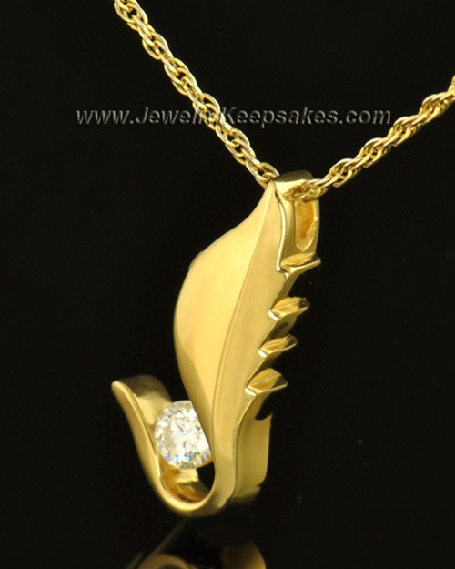 14k Gold Flutter of Memories Cremation Necklace